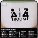 "AUFKLEBER bad toilette 20x15 cm ""Thinking Room"" - Anschluss-badezimmer-spaß - Home Decor Small Badezimmer WC"