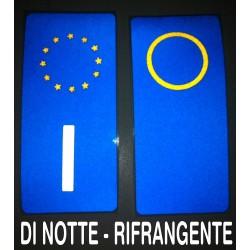 2 adesivi targa AUTO RIFRANGENTI - FIAT LANCIA - Neutri o con provincia anno