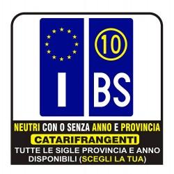 Paire d'Autocollants pour plaque d'immatriculation de l'Europe de réflexion Optimale de la qualité au Neutre ou à la province