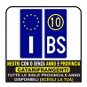 Pair Stickers for license plate of Europe REFLECTIVE - Optimal quality in Neutral or with the province
