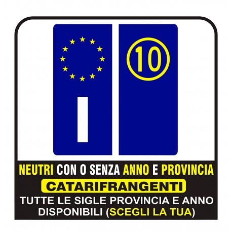 Paar Aufkleber Kennzeichen Europa Reflektierende Streifen Sehr Gute Qualität Neutrale Oder Provinz