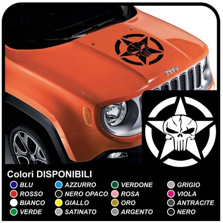 stickers for hood for wrangler jeep us army star with skull decals renegade jeep star military us army Willys