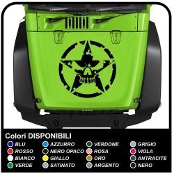 autocollants pour hotte pour wrangler jeep de l'armée américaine étoiles avec un crâne effet usé jeep renegade star militaire