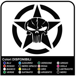 stickers for the rear star in the us army with a skull for wrangler jeep renegade Willys