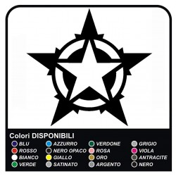 stickers hood and door polar star, star, military us army wrangler jeep renegade Willys