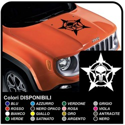 stickers for hood for wrangler jeep us army star skull star polaris renegade jeep star military Willys