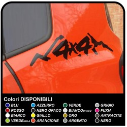 Stickers side for the rear Jeep Renegade-4x4 offroad sticker decal aufkleber NEW