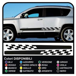 Stickers side for Jeep Compass adhesive compass jeep side strips adhesive tapes compass SPORT