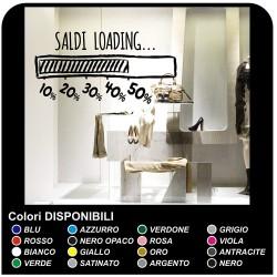 Aufkleber ic-salden für schaufenster, geschäfte im hotel - Salden loading - Maßnahmen 90x60 cm - Aufkleber für ic-salden,