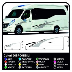 stickers RV Set Camper Van RV Caravan Motorhome, caravan, TOP QUALITY - graphics 19