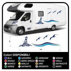 autocollants RV Définir Le Van RV Caravane camping-car, caravane, TOP QUALITÉ graphique 20 - la mer, le ciel, les mouettes, le