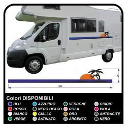 autocollants RV Définir Le Van RV Caravane camping-car, caravane, TOP QUALITÉ graphique 21 - palmiers, soleil, plage