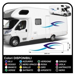 stickers for MOTORHOME graphics vinyl stickers decals stripes Set CAMPER VAN CARAVAN Motorhome - graphics 22