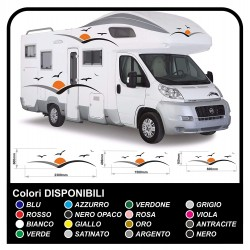 stickers for MOTORHOME graphics vinyl stickers decals stripes Set CAMPER VAN CARAVAN Motorhome - graphics 25