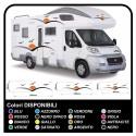 autocollants pour MOTORHOME graphiques de vinyle autocollants décalques rayures camping-car, CARAVANE, Motorhome - graphique 25