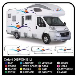 autocollants pour MOTORHOME graphiques de vinyle autocollants décalques rayures camping-car, CARAVANE, Motorhome - graphique 26
