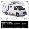 stickers for MOTORHOME graphics vinyl stickers decals stripes Set CAMPER VAN CARAVAN Motorhome - graphics 26
