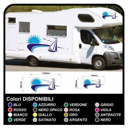 stickers for MOTORHOME graphics vinyl stickers decals stripes Set CAMPER VAN CARAVAN Motorhome - graphics 27