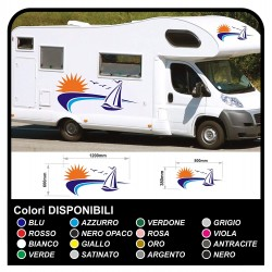 stickers for MOTORHOME graphics vinyl stickers decals stripes Set CAMPER VAN CARAVAN Motorhome - graphics 28