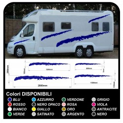 adhesives for RV graphics in vinyl effect scratches decals stripes Set CAMPER VAN CARAVAN Motorhome - graphics 32