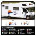 stickers for MOTORHOME graphics vinyl stickers decals stripes Set CAMPER VAN CARAVAN Motorhome - graphics-28b