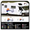 pegatinas para AUTOCARAVANA gráficos de vinilo pegatinas calcomanías de rayas caravana CARAVANA Autocaravana - gráficos-28b
