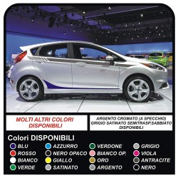 Sticker Set for FORD FIESTA MK7 / 8 Graphics Stripes car side bands
