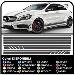 Mercedes Benz A Klasse Amg A45 Aufkleber Seitlich Der Motorhaube Und Tettino Streifen Sport A Klasse W176 A45 Amg A Klasse