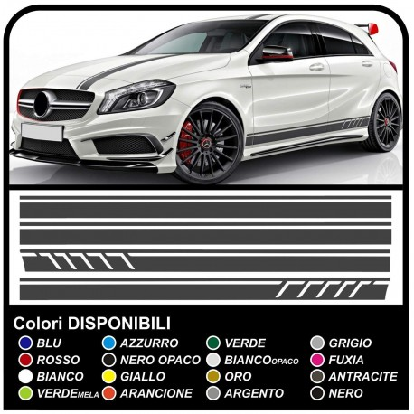 Mercedes Benz A Class Amg A45 Stickers Side Hood And Roof Stripes Sports A Class W176 Amg A45