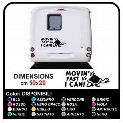 Kit 2 Stickers camper - Movin'as fast as i can Turtle - stickers, motorhome graphics caravan VAN camper