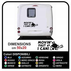 Kit de 2 Stickers camping - Movin as vite que je peux de la Tortue - des autocollants, camping-car graphiques caravane camper