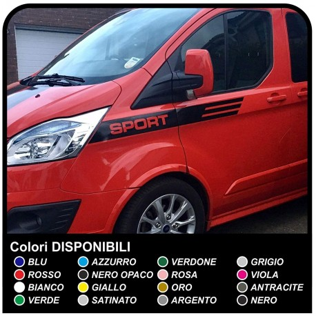 Stripes FORD Transit Custom SWB M-SPORT Stickers Decals adhesive strips ford transit connect car, truck, and van
