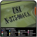 Adhesive SYMBOL of the MILITARY the US ARMY, please tell US THE INITIALS of your choice (and the size from 5 to 30cm) for the