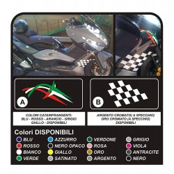 Stickers x TMAX 500 side, t-max tuning tmax carter TRICOLOR CHESS