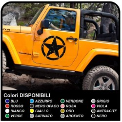 stickers Étoiles de l'ARMÉE AMÉRICAINE effet usé pour un jeep wrangler véhicules tout terrain et suv Crâne Willys autocollants