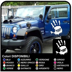 Stickers HAND-worn effect to door aged effect Jeep Renegade, Wrangler, Compass and Willys jeeps, and suvs