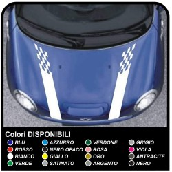 Stickers HOOD MINI COOPER S bands HOOD BACK VIPER adhesive strips mini cooper