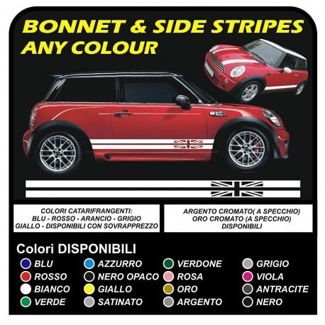 Aufkleber Seitlichen Mini Cooper Grafiken Englische Flagge Streifen Mini Cooper S One Jcw 14 16