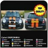 Stickers for MINI bonnet stickers MINI COOPER S bands the BONNET, ROOF AND boot lid the REAR VIPER