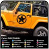 stickers door STAR MILITARY US ARMY worn effect for a jeep wrangler off-road vehicles and suv's Skull Willys Tuning rally