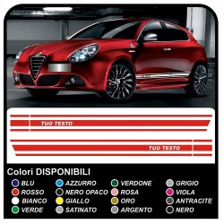 adhesive strips side alfa romeo 147 ducati NEW top quality stickers alfa romeo giulietta mito giulia side bands