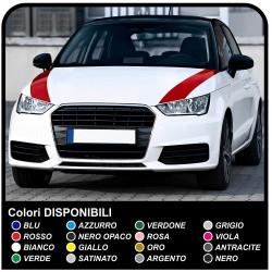 Stickers hood audi bmw alfa romeo fiat seat golf audi A1 A3 A4 A5 A6 A7 A8 Q1 Q3 A5 Q7 RS RS1 S1 S3 RS3 RS4 TT S3