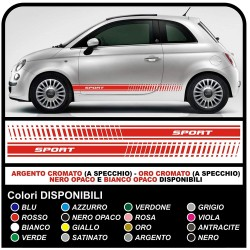stickers 500, fiat 500, audi a1, mini cooper smart Adhesive side CUSTOM sticker 500 point audi bmw abarth super sport