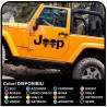 stickers for your door WRITTEN JEEP WITH SKULLS for the jeep wrangler off-road vehicles and suv's Skull Willys Tuning rally