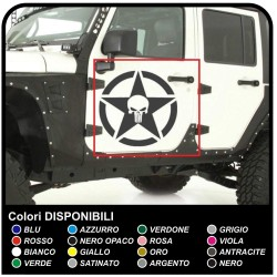 stickers door STAR WITH SKULL for jeep wrangler off-road vehicles and suv's Skull Willys Tuning rally