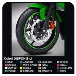 pegatinas de las llantas de las ruedas de la motocicleta tiras adhesivas para DUCATI, YAMAHA, SUZUKI, KAWASAKI, HONDA, BMW GP