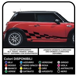 Stickers SIDE for MINI COOPER bonnet MINI S bands VIPER sd countryman clubman