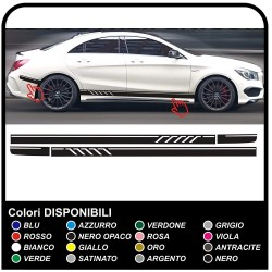 adhesive side MERCEDES-BENZ A-CLASS AMG stripes Sport class A Stripes sticker Set side