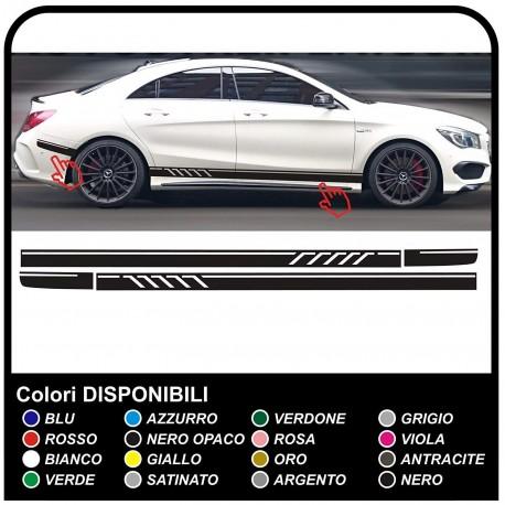 Aufkleber Seitlich Mercedes Benz A Klasse Amg Streifen Sport A Klasse Streifen Set Aufkleber Seitlich A Klasse