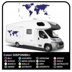 decals RV graphics Globe world planet vinyl stickers decals Set Camper Van RV Caravan Motorhome trailer